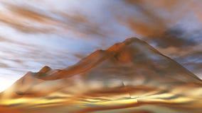 Berglandschap, panorama, banner Royalty-vrije Stock Foto's