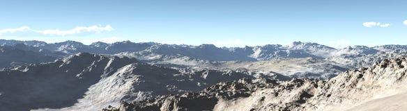 Berglandschap, panorama, banner Royalty-vrije Stock Fotografie