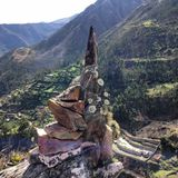 Berglandschap, Peru Stock Foto
