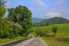 Berglandschap in Shemakha-district Royalty-vrije Stock Foto