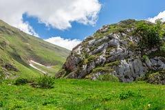 Berglandschap - Sibillini-Bergen stock afbeelding