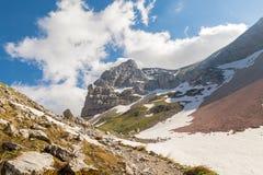 Berglandschap - Sibillini-Bergen stock afbeeldingen