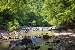 Berglandschap in Talysh-bergen in de zomer Royalty-vrije Stock Foto