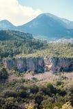 Berglandschap tegen de hemel Stock Fotografie