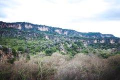 Berglandschap tegen de hemel Royalty-vrije Stock Foto