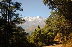 Berglandschap van het Himalayagebergte Royalty-vrije Stock Afbeeldingen