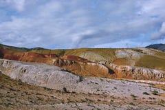 Berglandschap van heuvels in Altai Royalty-vrije Stock Fotografie