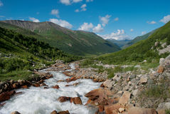 Berglandskap royaltyfri foto