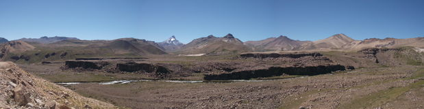 Berglandskap arkivbild