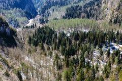 Berglandskap, Abchazien Arkivfoto