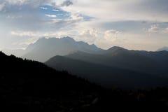 Berglandskap av Abchazien Royaltyfria Bilder