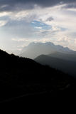 Berglandskap av Abchazien Royaltyfri Bild