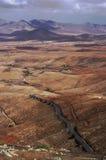 Berglandskap av Betancuria på Fuerteventura Royaltyfri Bild