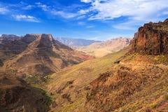 Berglandskap av den Gran Canaria ön Royaltyfria Bilder