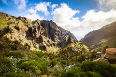 Berglandskap av den Masca klyftan Härliga sikter av Co Royaltyfri Foto