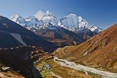 Berglandskap av himalayasna Royaltyfria Bilder