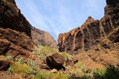 Berglandskap av klyftamaskaen Royaltyfri Fotografi