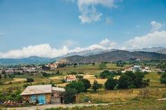 Berglandskap av Kretaön, Grekland Arkivfoton