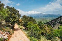 Berglandskap av Kretaön, Grekland Royaltyfria Foton
