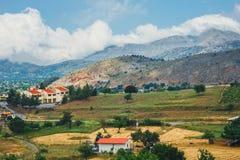 Berglandskap av Kretaön, Grekland Royaltyfria Bilder