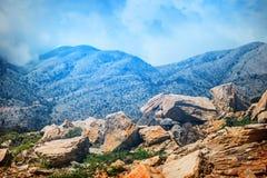 Berglandskap av Kretaön, Grekland Royaltyfri Bild