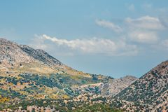 Berglandskap av Kretaön, Grekland Arkivfoto
