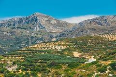 Berglandskap av Kretaön, Grekland Arkivbilder