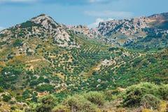 Berglandskap av Kretaön, Grekland Royaltyfri Foto