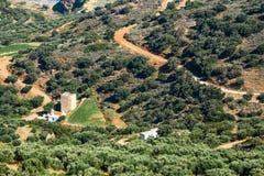 Berglandskap av Kreta, Grekland Arkivfoton