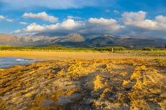 Berglandskap av Kreta nära Malia Royaltyfri Bild