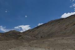 Berglandskap av Ladakh Arkivfoton