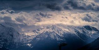 Berglandskap, bergpanorama Arkivfoton