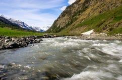 Berglandskap, bergpanorama Royaltyfri Foto