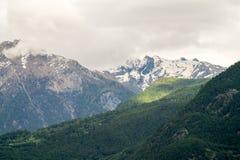Berglandskap, bergpanorama Arkivfoto