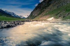 Berglandskap, bergpanorama Arkivbilder