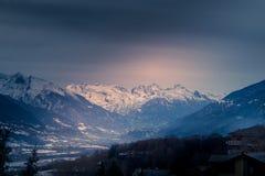 Berglandskap, bergpanorama Royaltyfria Bilder