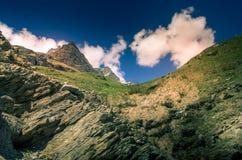 Berglandskap, bergpanorama Fotografering för Bildbyråer