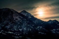 Berglandskap, bergpanorama Royaltyfria Foton
