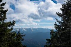 Berglandskap Carpathians Royaltyfri Bild