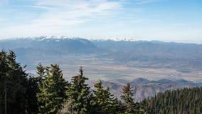 Berglandskap Carpathians Royaltyfri Foto