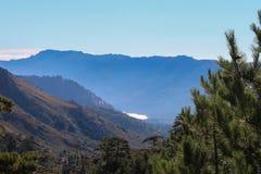 Berglandskap, Corse, Frankrike Arkivfoto