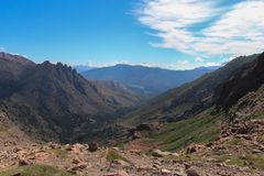 Berglandskap, Corse, Frankrike Royaltyfria Foton