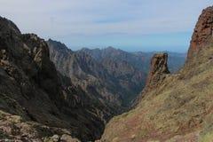 Berglandskap, Corse, Frankrike Royaltyfri Bild
