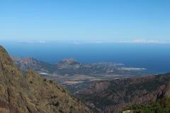 Berglandskap, Corse, Frankrike Royaltyfri Fotografi