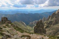 Berglandskap, Corse, Frankrike Arkivfoton
