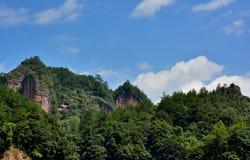 Berglandskap, Fujian, Kina royaltyfria bilder