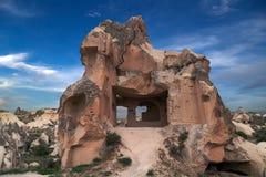 Berglandskap, Goreme, Cappadocia, Turkiet Royaltyfria Foton