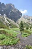 Berglandskap höga Tatras Fotografering för Bildbyråer