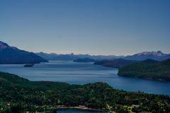 Berglandskap i Bariloche, Argentina Arkivfoto