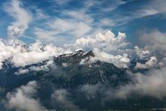 Berglandskap i Dolomites Italien Royaltyfri Fotografi